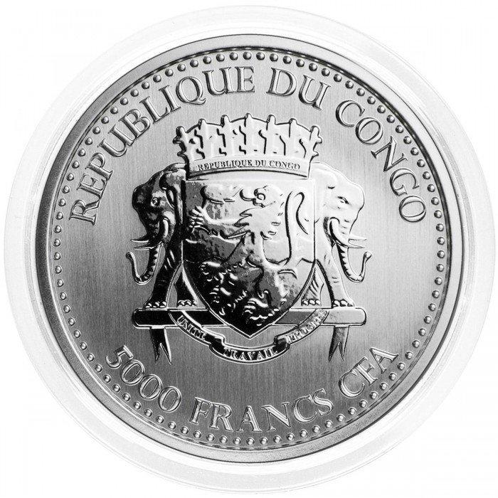 Congo: 5000 Francs 2019 - 1oz .999 Ag PL - SILVERBACK GORILLA (CG0994X001244) by www.numizmatika.si