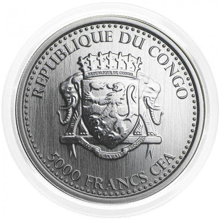 Congo: 5000 Francs 2016 - 1oz .999 Ag PL - SILVERBACK GORILLA (CG09972202805647642) by www.numizmatika.si