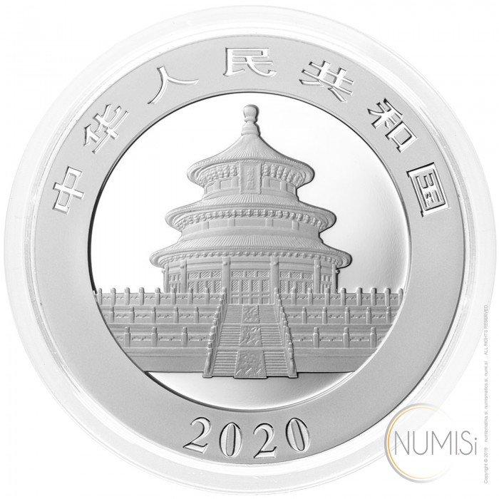China: 10 Yuan 2020 - 30 g .999 Ag BU - Panda (CN0993X001725) by www.numizmatika.si