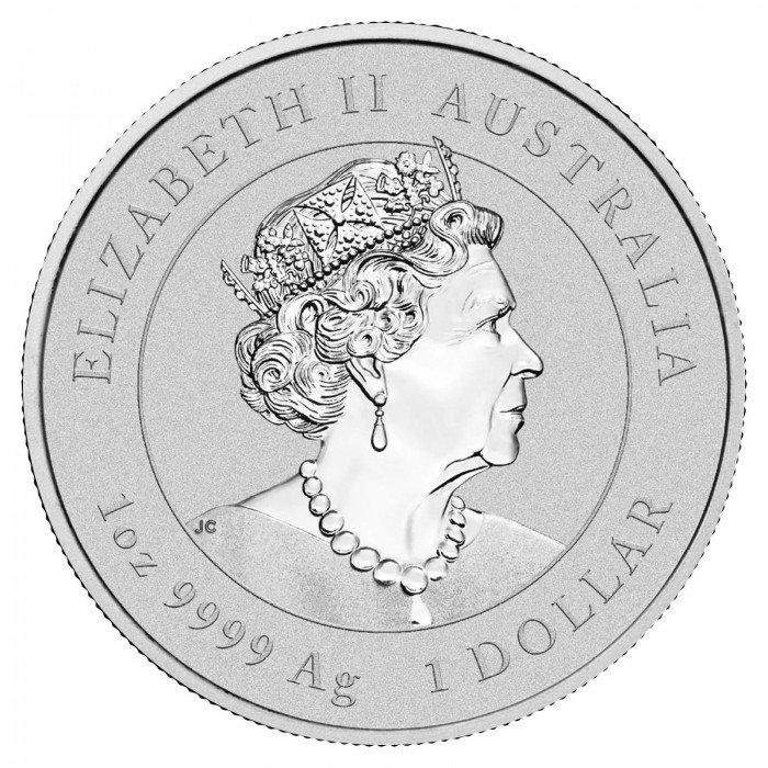 Australia: 1 AUD 2021 - 1oz .9999 Ag ST - AUSTRALIAN KANGAROO | 25 PCS (AU0992X002176T) by www.numizmatika.si