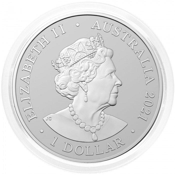 Australia: 1 AUD 2021 - 1oz .999 Ag BU - KANGAROO (RAM) (AU0992X002235) by www.numizmatika.si