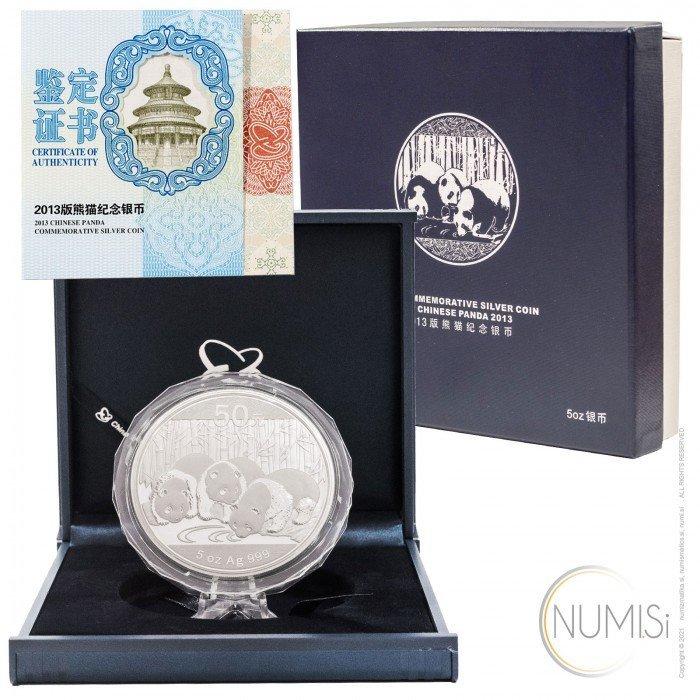 China - The People s Republic: 50 Yuan 2013 - 5 oz .999 Ag PROOF - Panda (CH1000X002247) by www.numizmatika.si