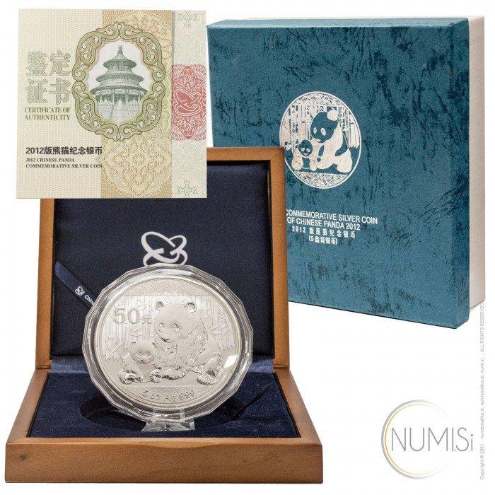 China - The People s Republic: 50 Yuan 2012 - 5 oz .999 Ag PROOF - Panda (CH1001X002248) by www.numizmatika.si