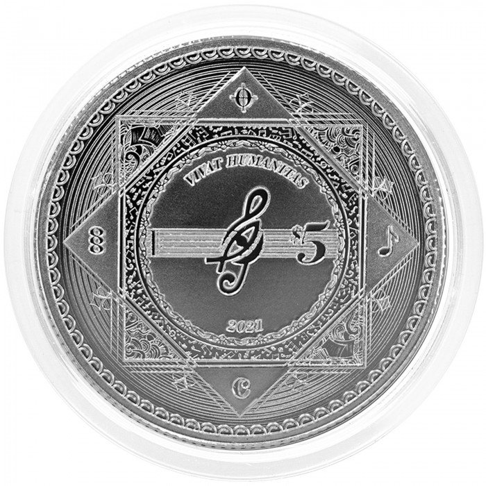 Tokelau: 5 NZD 2021 - 1 oz .999 Ag BU - Vivat Humanitas (TK0992X002277) by www.numizmatika.si