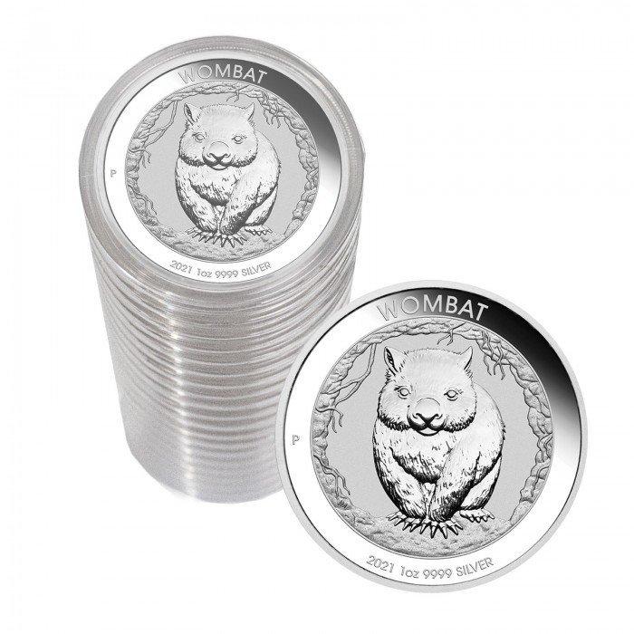 Australia: 1 AUD 2021 - 1oz .9999 Ag BU - WOMBAT | 20 PCS (AU0992X002279R) by www.numizmatika.si