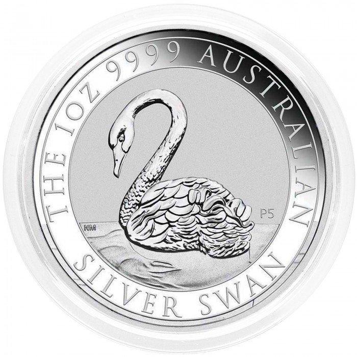 Australia: 1 AUD 2021 - 1oz .9999 Ag BU - SWAN (AU0992X002281) by www.numizmatika.si