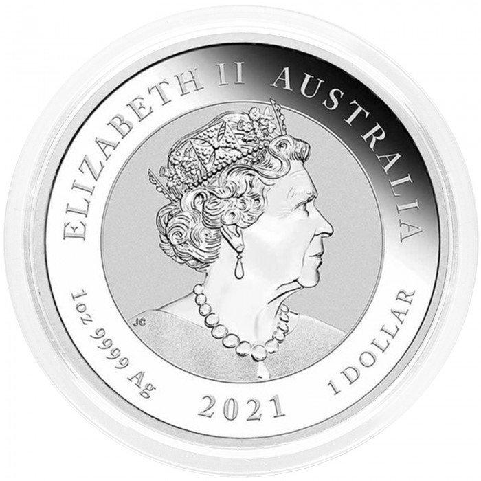 Australia: 1 AUD 2021 - 1oz .9999 Ag BU - Chinese Myths and Legends - Dragon (AU0992X002308) by www.numizmatika.si
