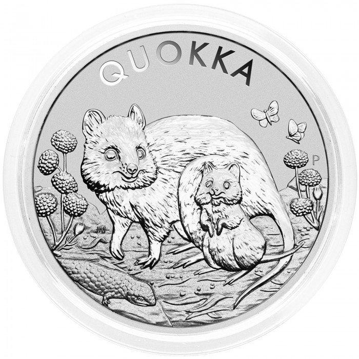 Australia: 1 AUD 2021 - 1oz .9999 Ag BU - QUOKKA (AU0992X002322) by www.numizmatika.si