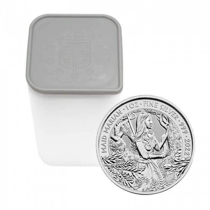 Great Britain:  2 GBP 2022 - 1oz .999 Ag - Myths and Legends - MAID MARIAN | 25 KOS (GB0992X002323T) by www.numizmatika.si
