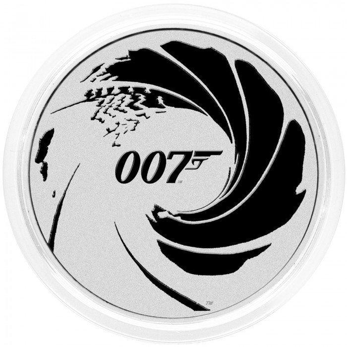 Tuvalu: 1 TVD 2022 - .9999 Ag BU - James Bond 007™ BLACK (TK0991X002334) by www.numizmatika.si