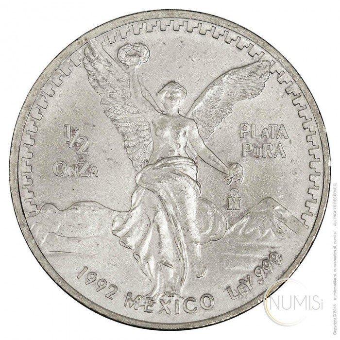 Mexico: 1992 - 1/2 oz .999 Ag BU - Libertad (MX1021220100X000305) by www.numizmatika.si