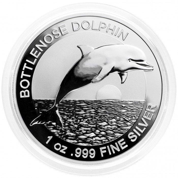 Australia:  1 AUD 2019 - 1oz .999 Ag BU - Bottlenose Dolphin | Elizabeth II (AU0994220100X000866) by www.numizmatika.si