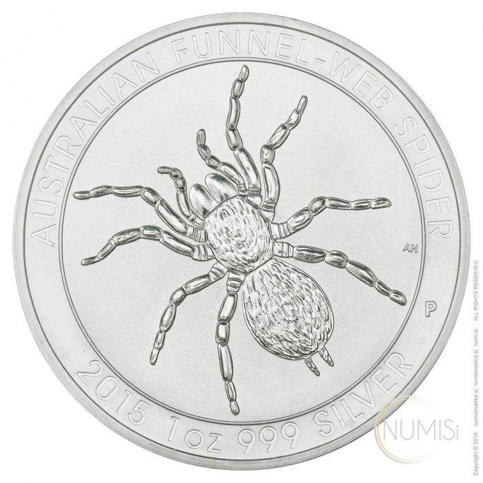 Australia: 1 AUD 2015 - 1oz .999 Ag BU - Funnel-Web Spider | 25 PCS (AU09982202806770926T) by www.numizmatika.si