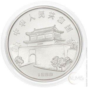 Kitajska: 10 Yuan 1989 - 15 g .850 Ag PP - Lunar Year Series | Year of the Snake (KAČA)