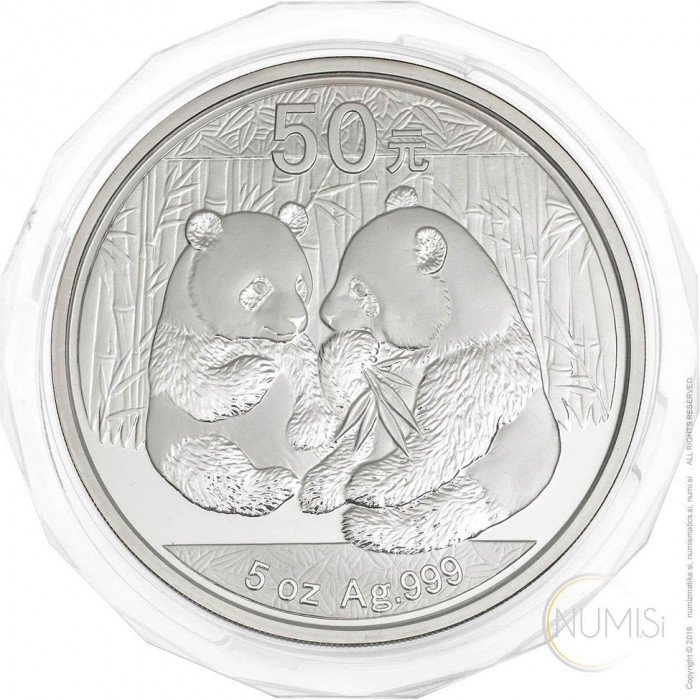 China - The People s Republic: 50 Yuan 2009 - 5 oz .999 Ag PROOF - Panda (CH10042204009931721) by www.numizmatika.si