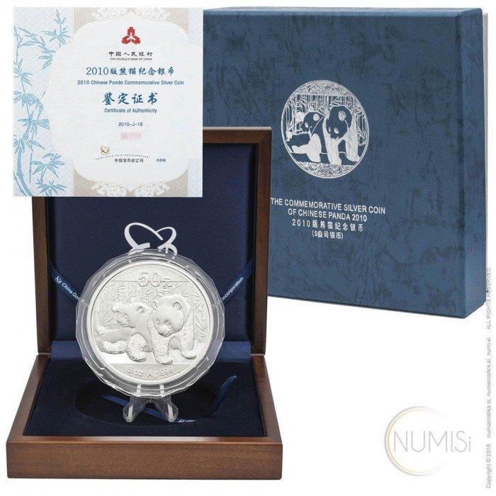 China - The People s Republic: 50 Yuan 2010 - 5 oz .999 Ag PROOF - Panda (CH10032204006161177) by www.numizmatika.si