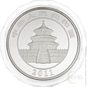 China - The People's Republic: 50 Yuan 2011 - 5 oz .999 Ag PROOF - Panda