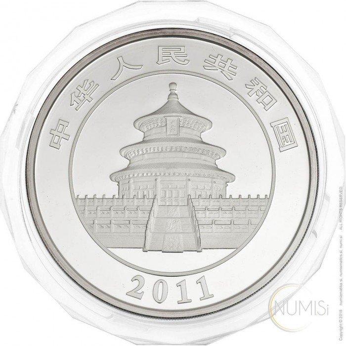 China - The People s Republic: 50 Yuan 2011 - 5 oz .999 Ag PROOF - Panda (CN10022204007278437) by www.numizmatika.si