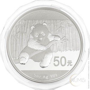 China - The People's Republic: 50 Yuan 2014 - 5 oz .999 Ag PROOF - Panda