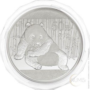 China - The People's Republic: 50 Yuan 2015 - 5 oz .999 Ag PROOF - Panda