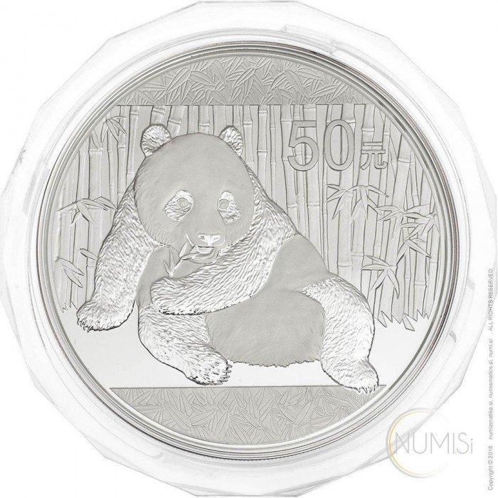 China - The People s Republic: 50 Yuan 2015 - 5 oz .999 Ag PROOF - Panda (CN09981102807585564) by www.numizmatika.si