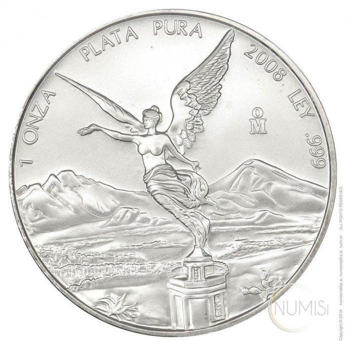 Mexico: 2008 - 1oz .999 Ag BU - Libertad (MX10052202001272430) by www.numizmatika.si